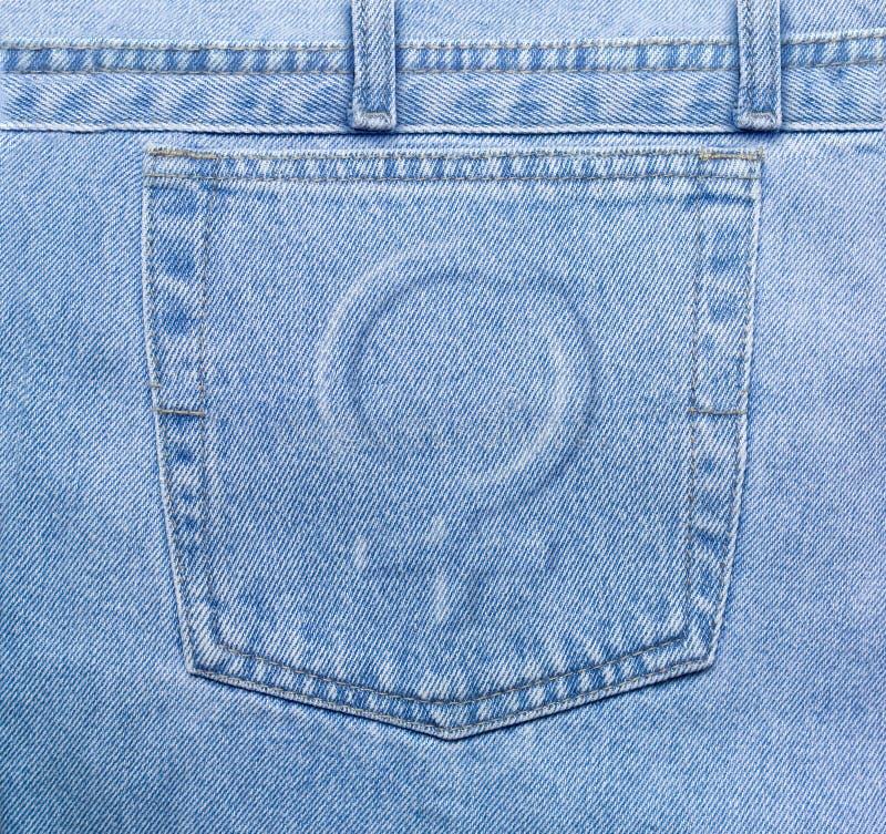 Bolsillo De Los Pantalones Vaqueros De Femenine Fotos de archivo libres de regalías