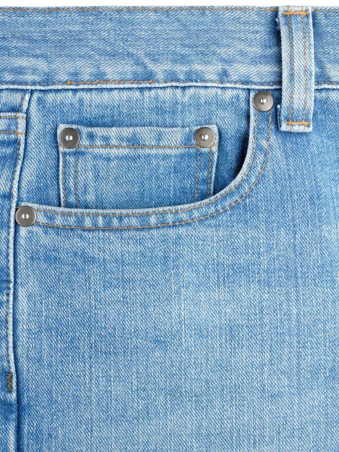 Bolsillo en los pantalones vaqueros imágenes de archivo libres de regalías