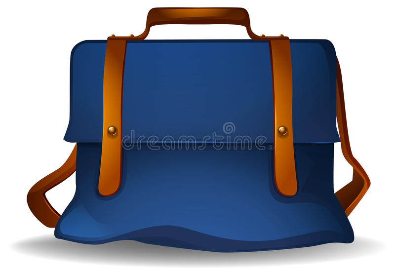 Bolso azul ilustración del vector