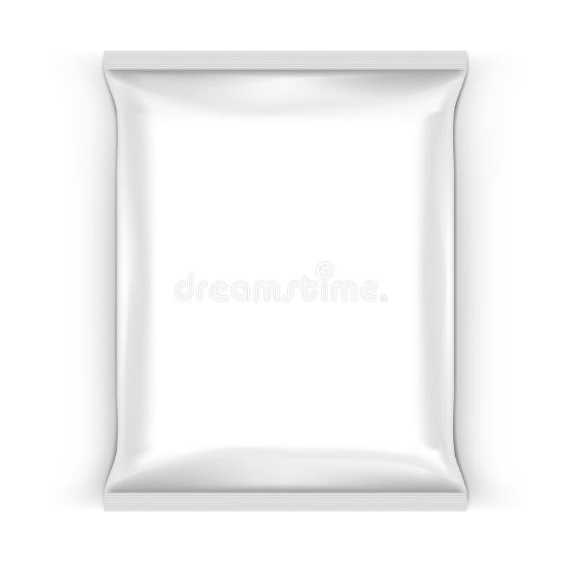 Bolso blanco de la almohada del bocado de la comida para calificar libre illustration