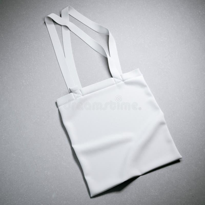 Bolso blanco de la materia textil de algodón imagen de archivo libre de regalías