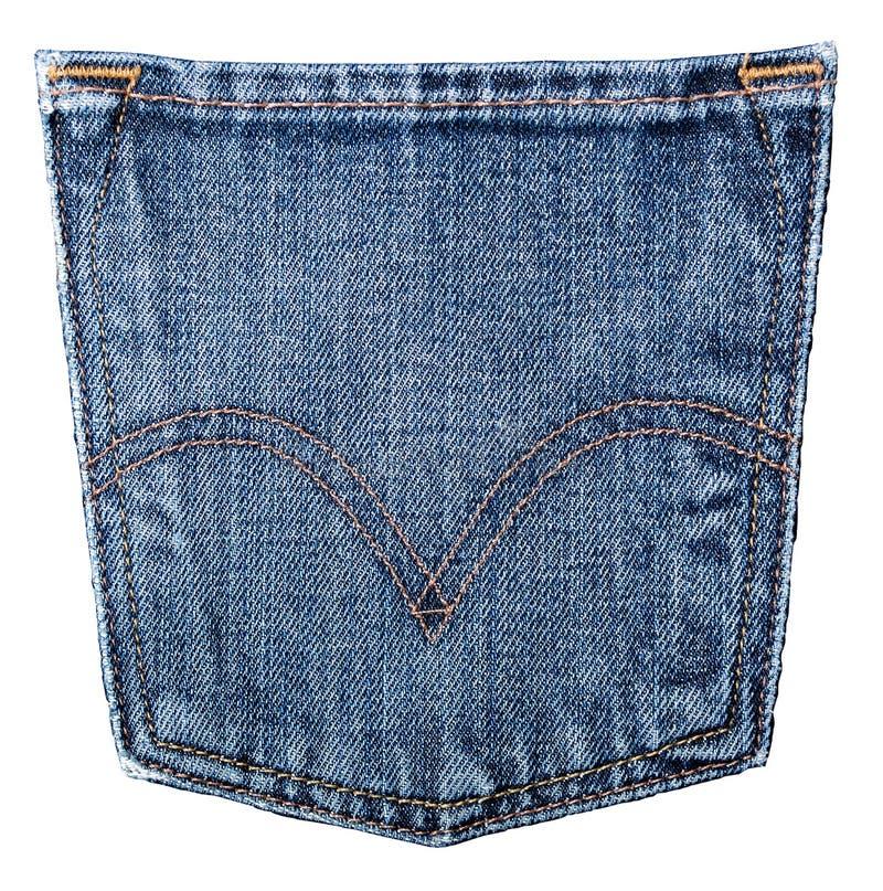 Bolso das calças de brim imagens de stock