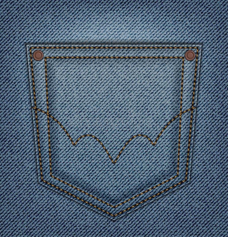 Bolso das calças de brim ilustração do vetor