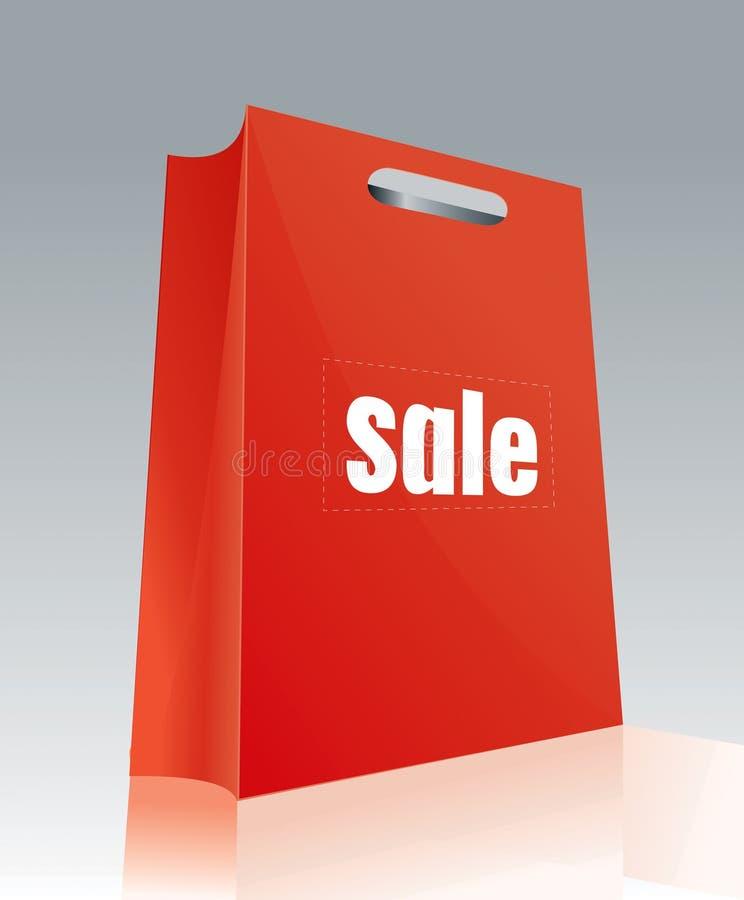 Bolso de compras 5 stock de ilustración