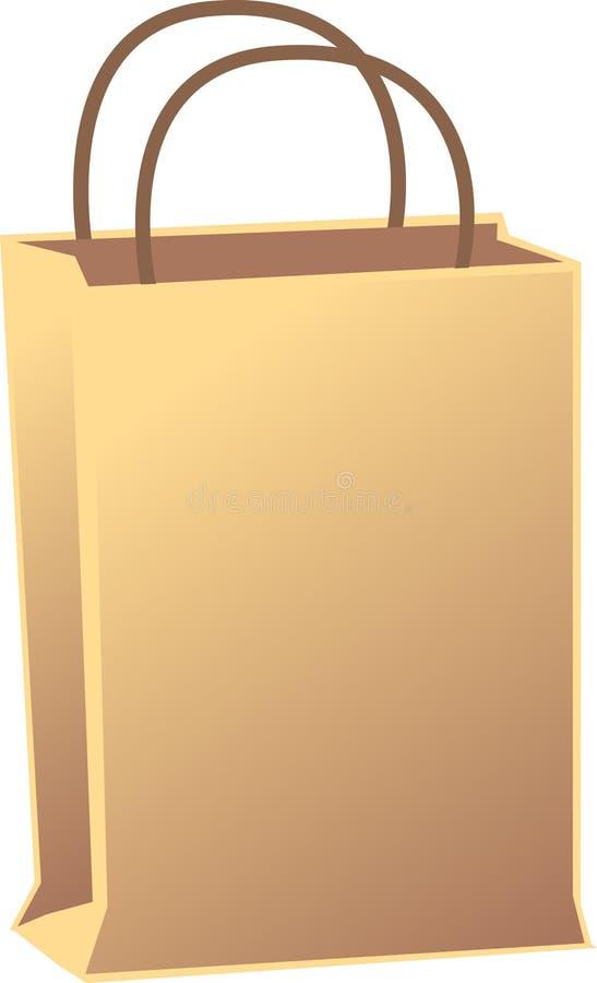 Bolso de compras ilustración del vector