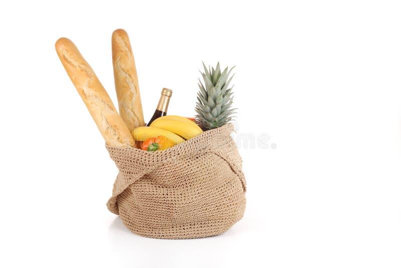 Bolso de compras de alimento imagen de archivo libre de regalías