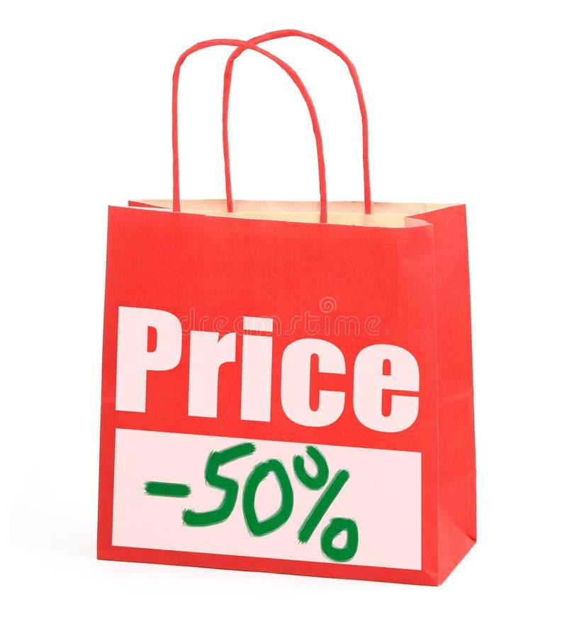 Bolso de compras en blanco fotografía de archivo libre de regalías