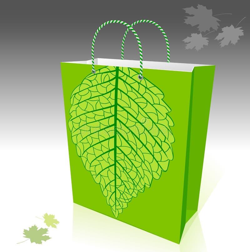 Bolso de compras favorable al medio ambiente stock de ilustración