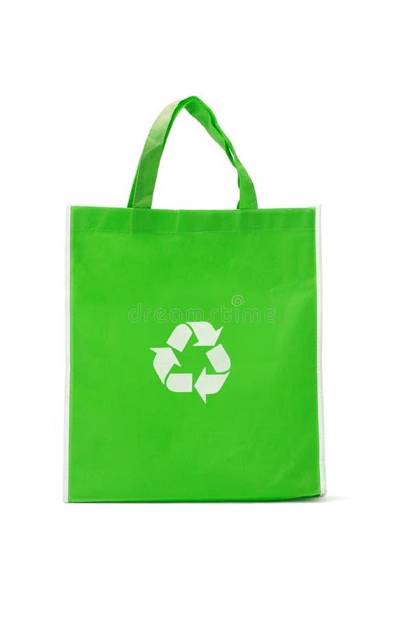 Bolso de compras reutilizable verde foto de archivo