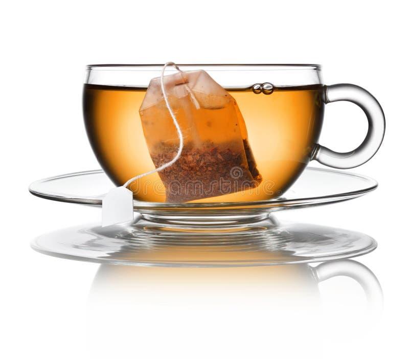 Bolso de cristal de la taza de té imagenes de archivo