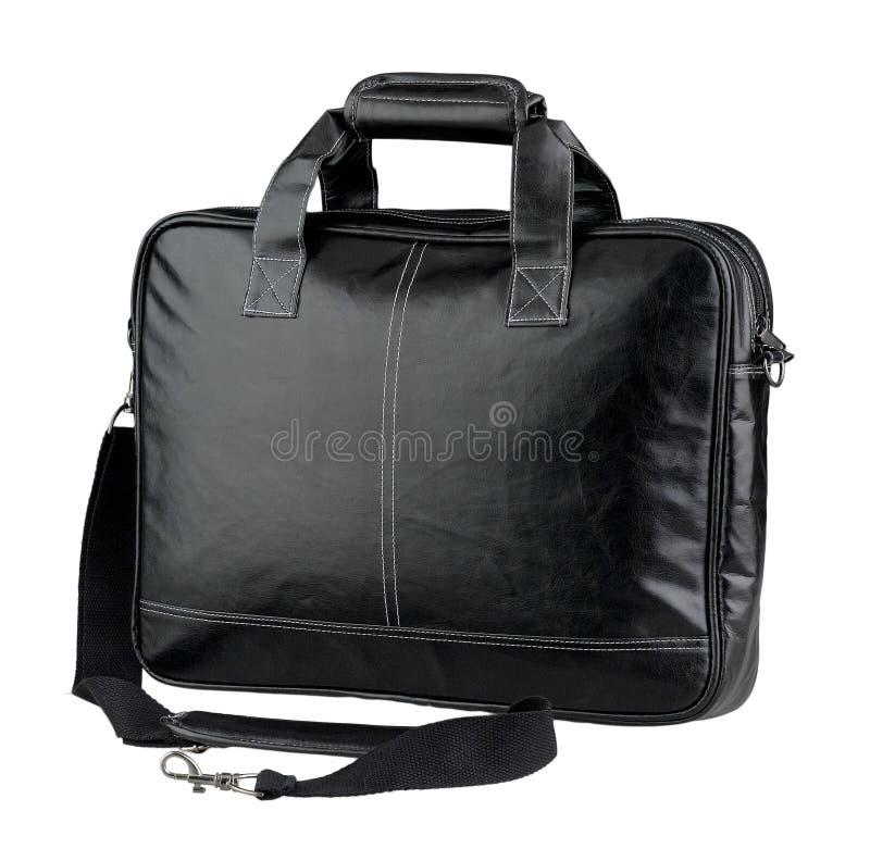 Bolso de cuero de la cartera o del ordenador imagen de archivo