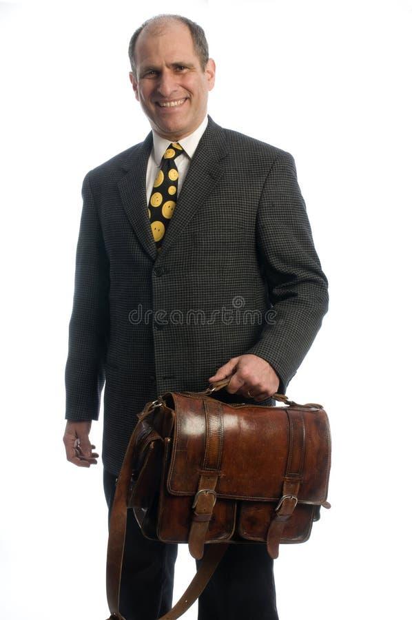 Bolso de cuero del recorrido del agregado del ejecutivo de operaciones fotos de archivo