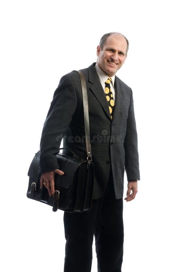 bolso de cuero del recorrido del agregado del ejecutivo de operaciones fotografía de archivo libre de regalías