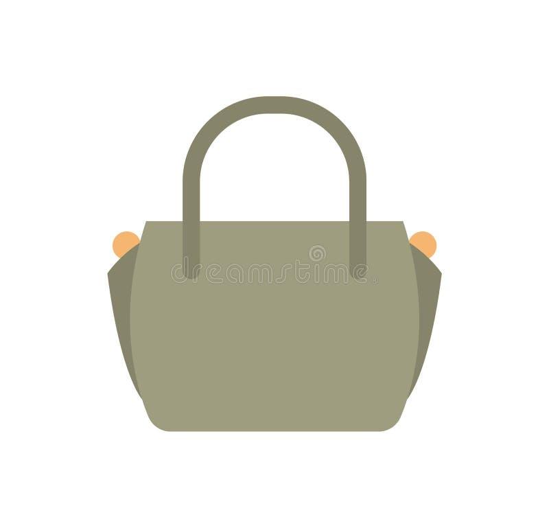 Bolso de cuero femenino de moda de Grey Color stock de ilustración