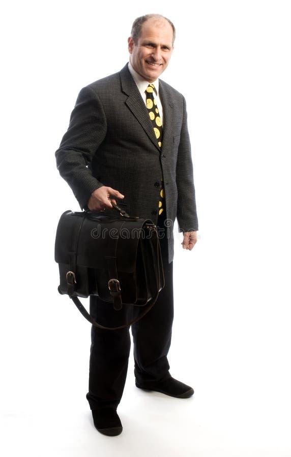 Bolso de cuero que viaja del ejecutivo 'senior' imagen de archivo libre de regalías