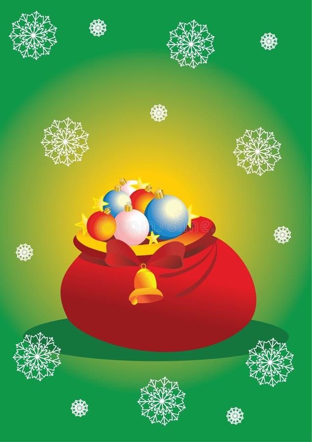 Bolso de la Navidad stock de ilustración