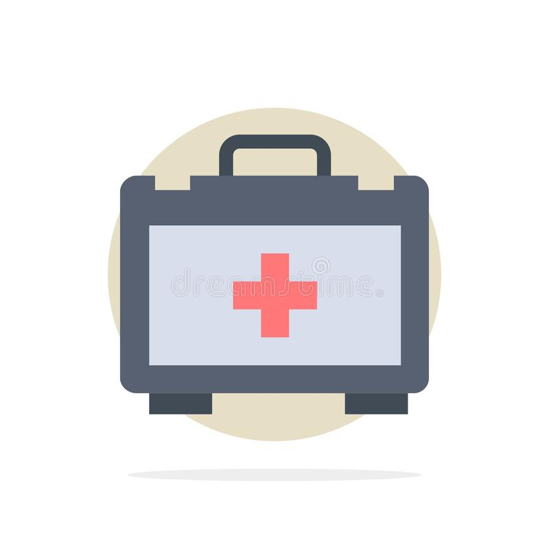 Bolso, bolso de la salud, icono plano del color de fondo del círculo del extracto de la motivación ilustración del vector