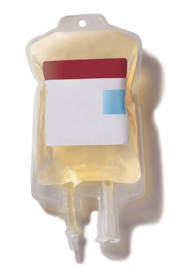 Bolso de la sangre del plasma imágenes de archivo libres de regalías