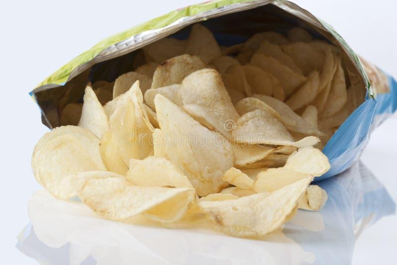 Bolso de las patatas fritas foto de archivo