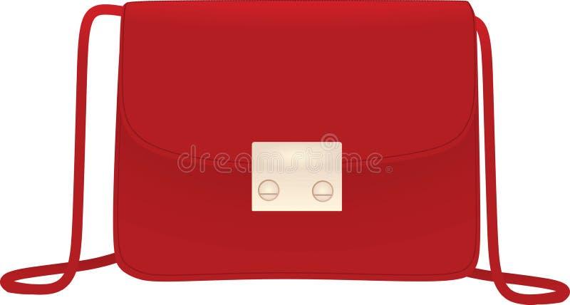 Bolso de mano rojo de las mujeres libre illustration
