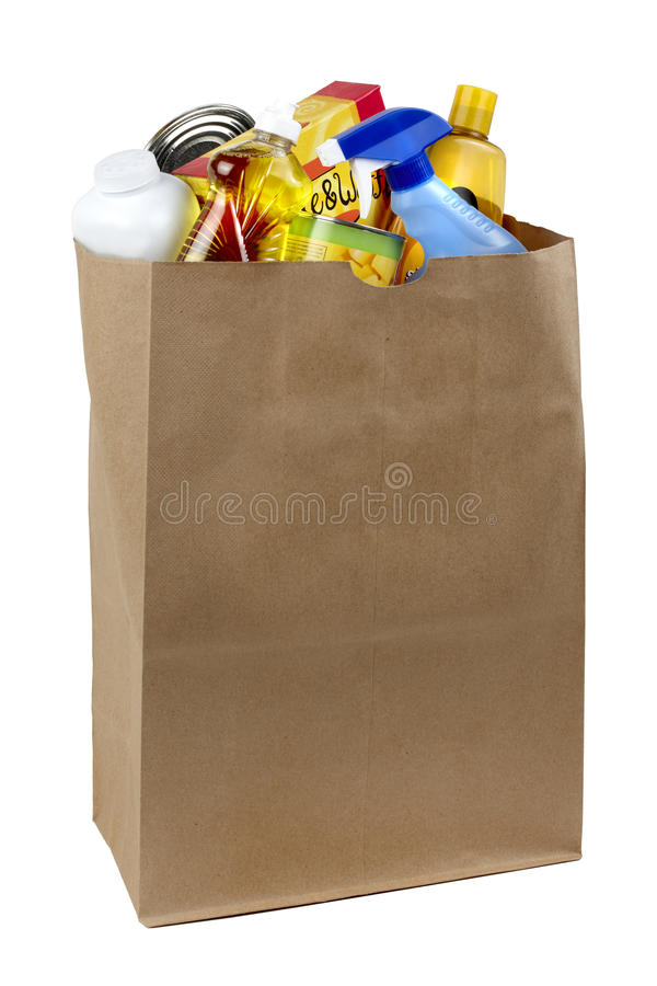 Bolso de tiendas de comestibles imágenes de archivo libres de regalías
