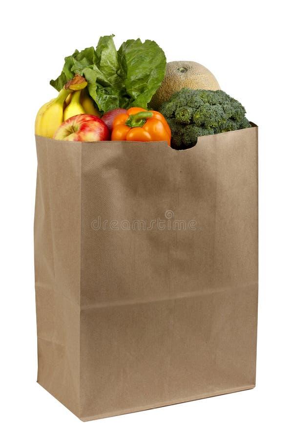 Bolso de tiendas de comestibles imagen de archivo