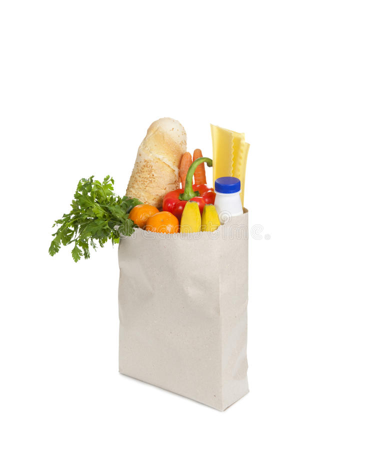 Bolso de tiendas de comestibles fotos de archivo