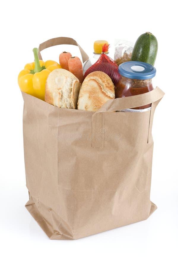 Bolso de tiendas de comestibles fotografía de archivo libre de regalías
