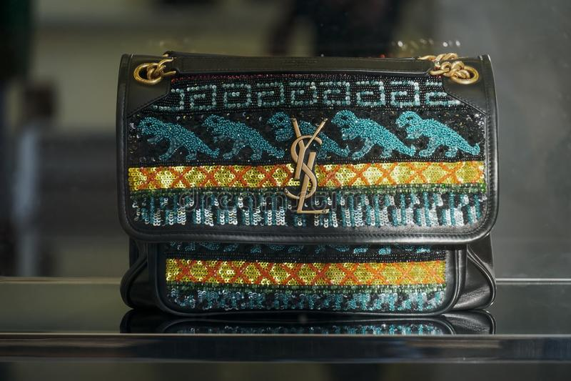 Bolso de Yves Saint Laurent foto de archivo libre de regalías