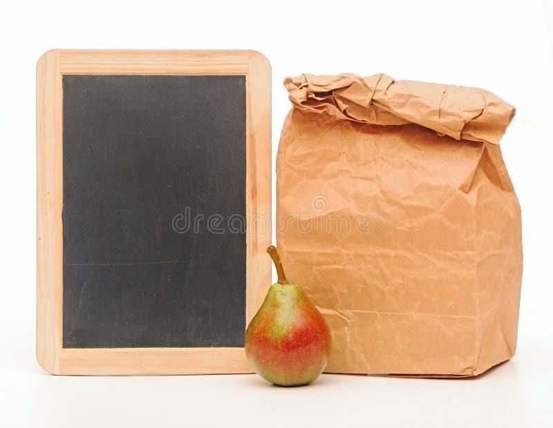 Bolso del almuerzo escolar imagenes de archivo