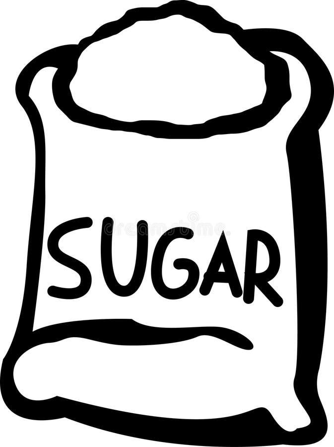 Bolso del azúcar ilustración del vector
