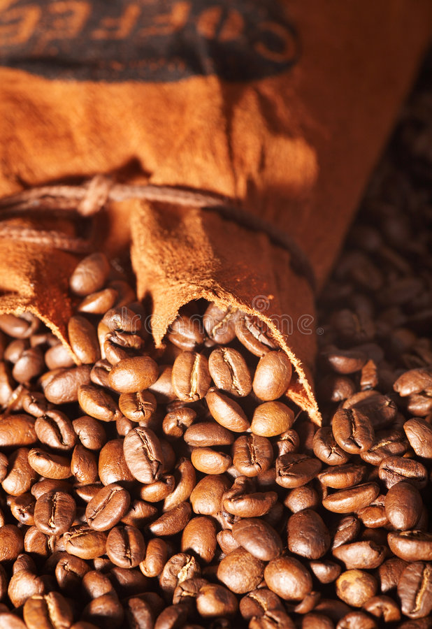 Bolso del café imagen de archivo libre de regalías