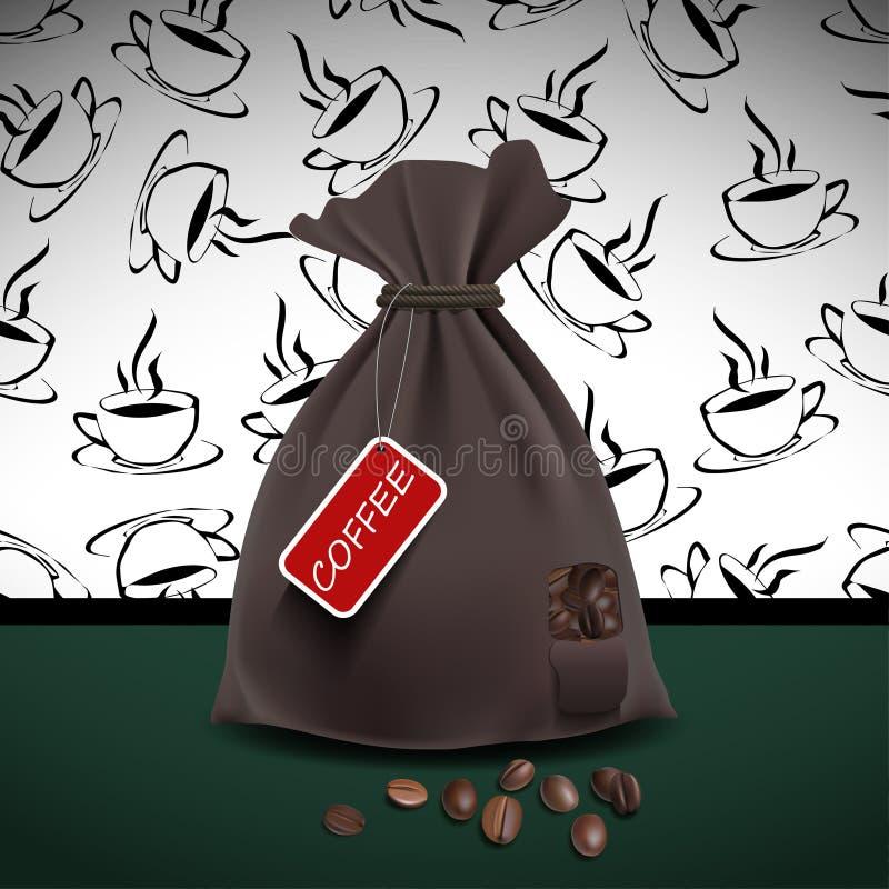 Bolso del café ilustración del vector