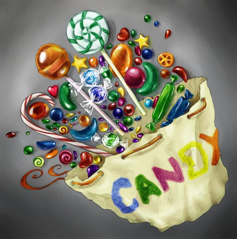 Bolso del caramelo para aclarar un día embotado fotos de archivo libres de regalías