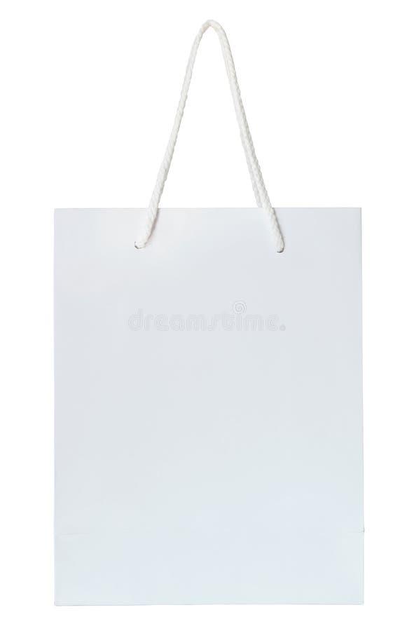 Download Bolso Del Libro Blanco Aislado En Blanco Foto de archivo - Imagen de objeto, groceries: 44850092