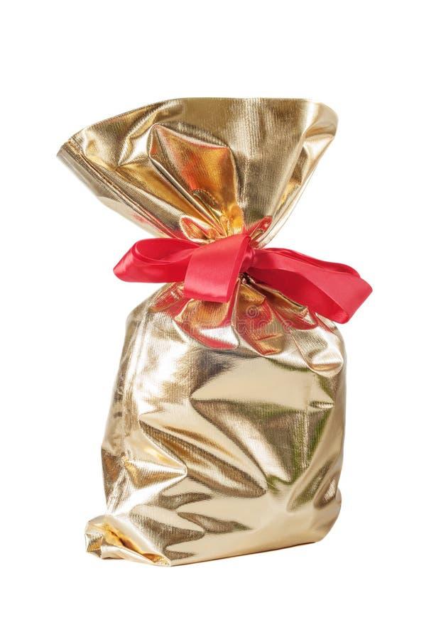 Bolso del regalo de la Navidad foto de archivo