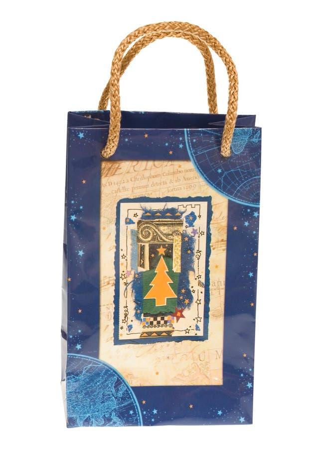 Bolso del regalo de Navidad fotografía de archivo libre de regalías