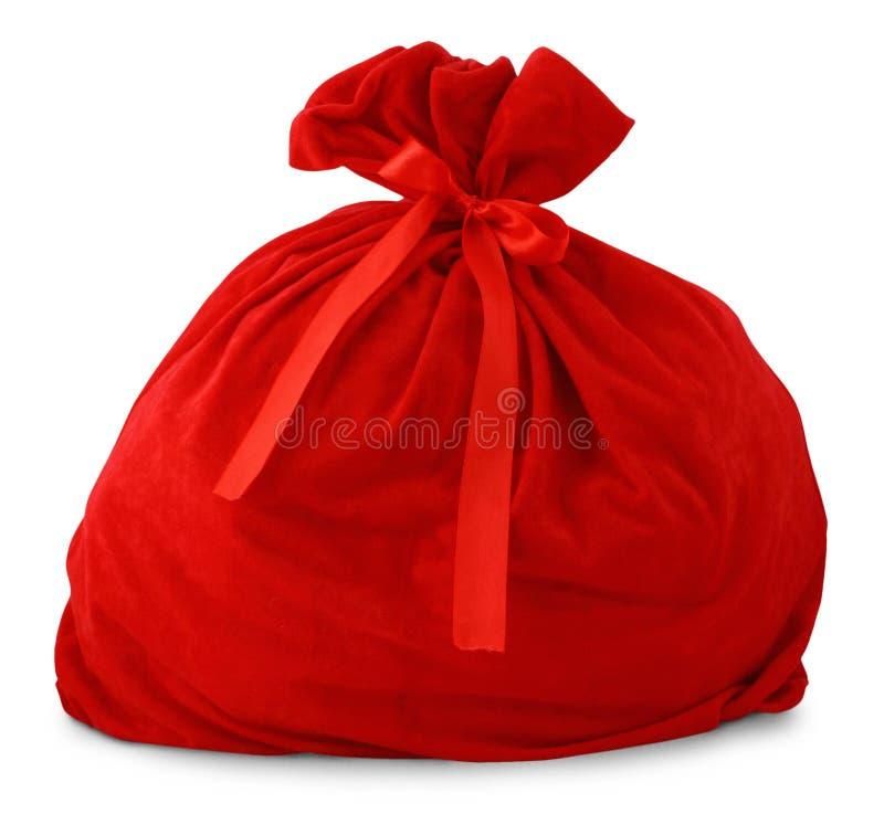 Bolso del regalo de Santa imagen de archivo libre de regalías
