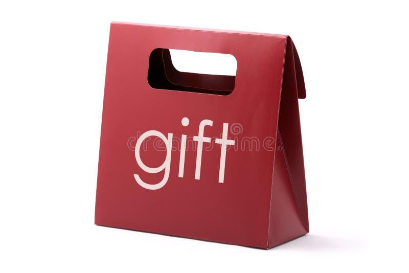 Bolso del rojo del regalo foto de archivo
