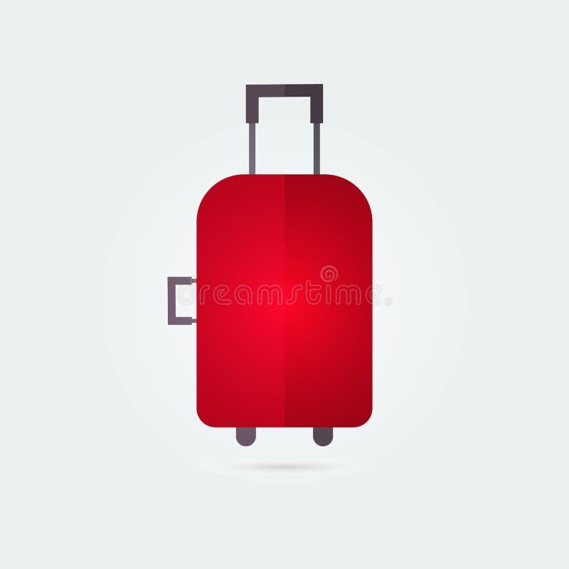 Bolso del viaje de Colorfull, icono plano de la maleta Ilustraci?n del vector fotografía de archivo