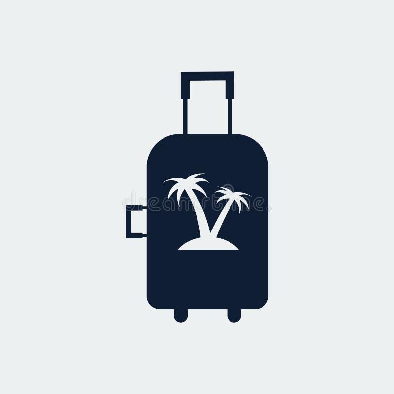 Bolso del viaje, icono de la maleta Ilustraci?n del vector imagen de archivo libre de regalías