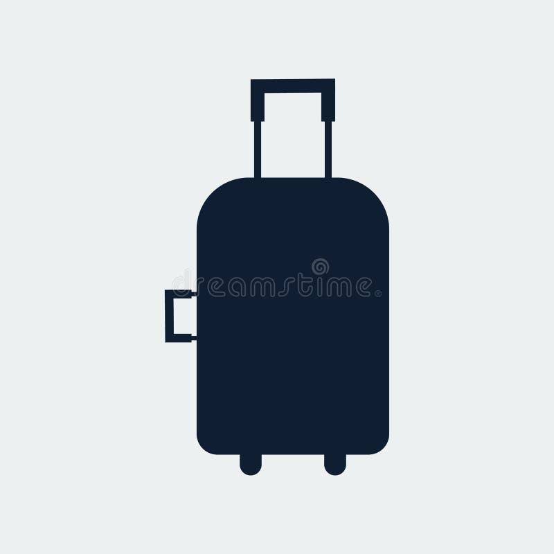 Bolso del viaje, icono de la maleta Ilustraci?n del vector foto de archivo libre de regalías
