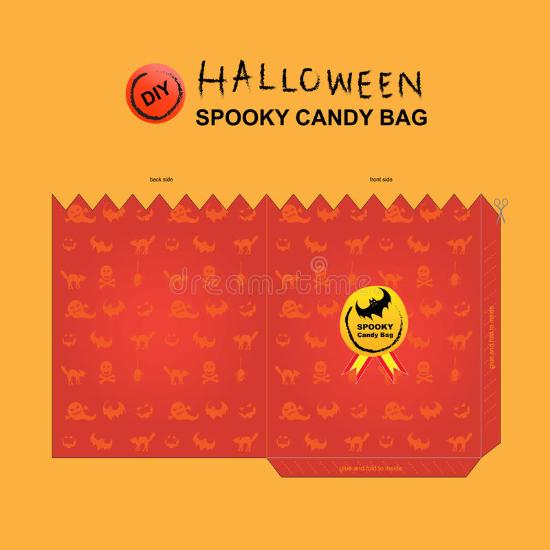 Bolso 3 diy del caramelo de Halloween libre illustration
