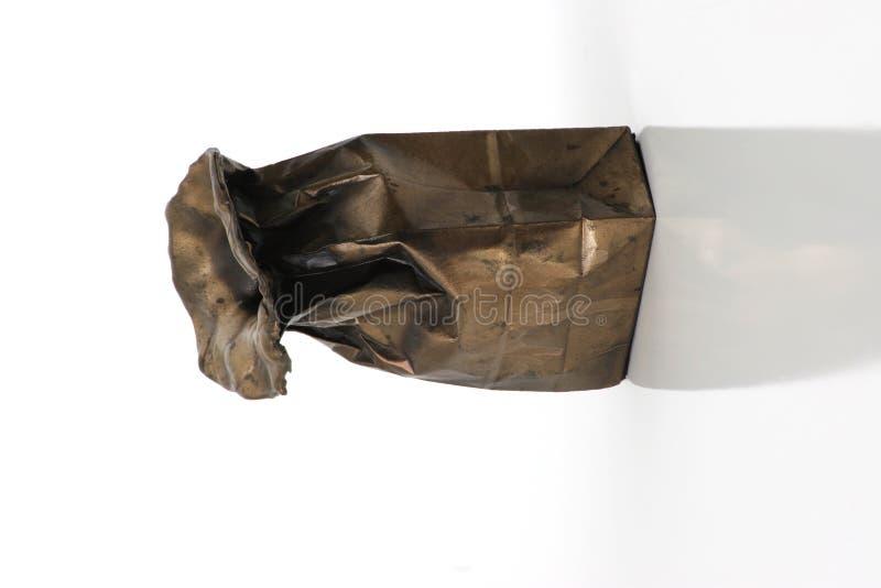 Bolso Echado En Bronce Fotografía de archivo libre de regalías