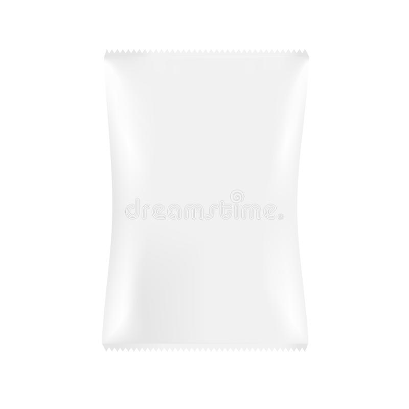 Bolso gris blanco del paquete del bocado libre illustration