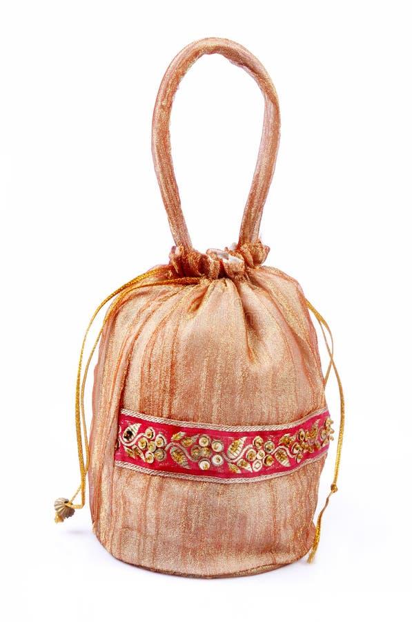 Bolso hecho a mano indio del regalo fotos de archivo