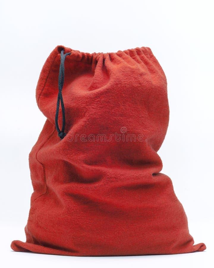 Bolso rojo del paño foto de archivo libre de regalías