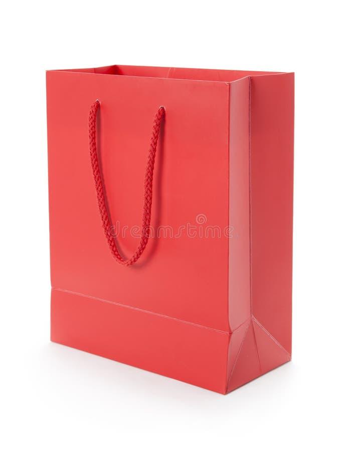 Bolso rojo del regalo foto de archivo