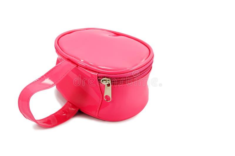 Bolso rosado de los cabritos foto de archivo