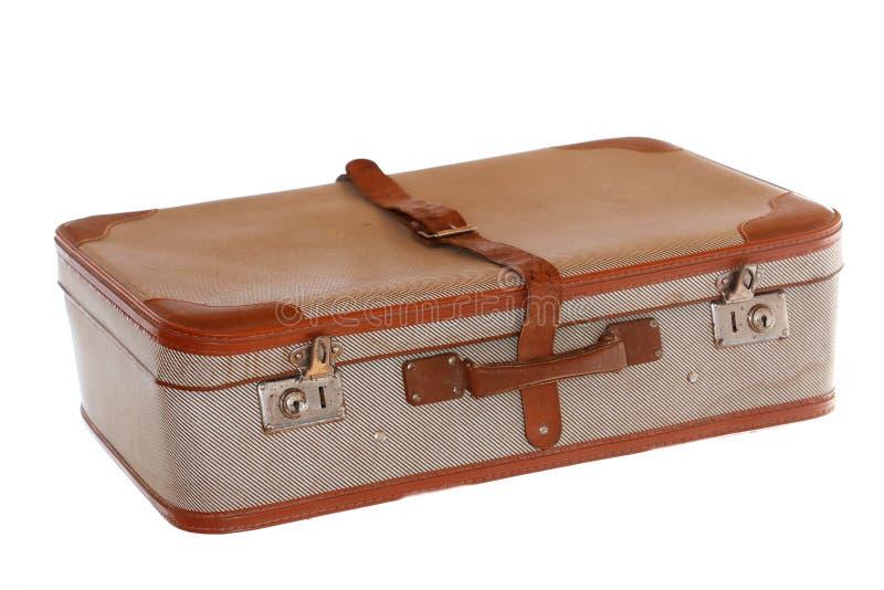 Bolso viejo del viaje con la banda de cuero fotos de archivo libres de regalías
